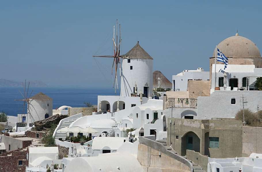 Miasteczko Oia - Na wyspie Santorini w Grecji (7×5)