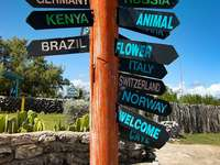 Drogowskaz na North Point (Barbados)