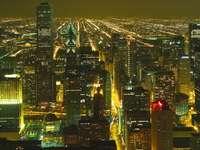 Centrum Chicago nocą