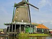 Wiatrak w Zaanse Schans (Holandia)