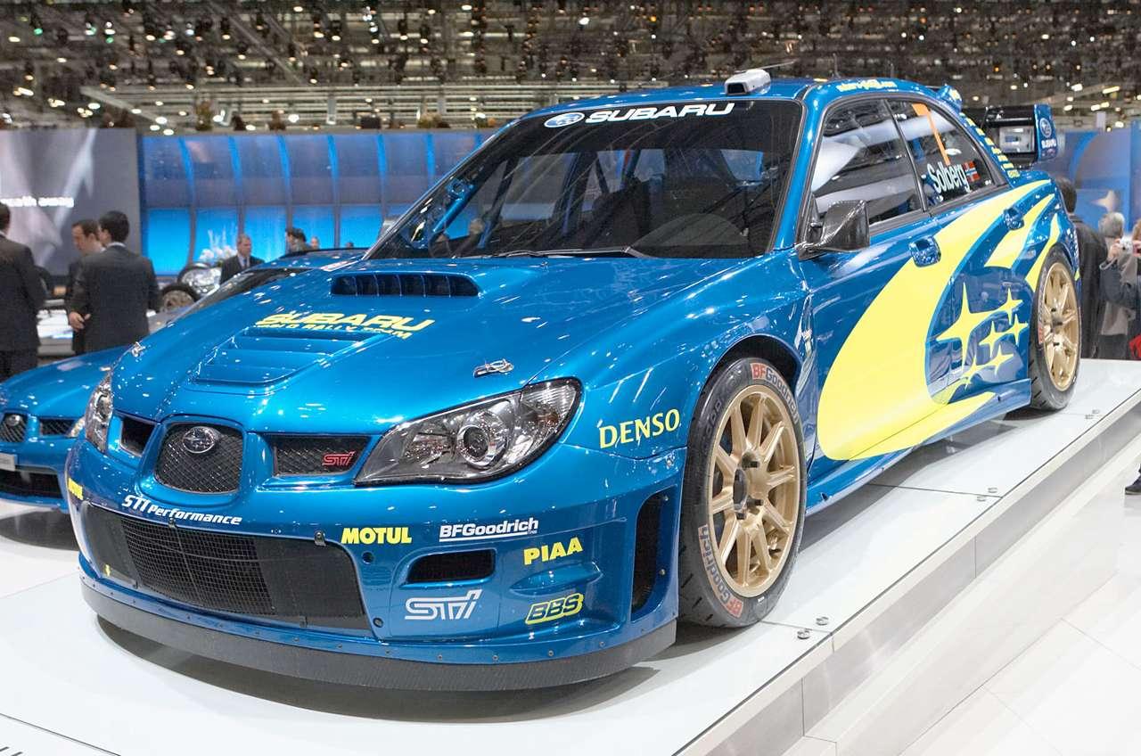 Subaru Impreza WRC - Subaru Impreza WRC to rajdowa wersja zbudowana na bazie samochodu kompaktowego japońskiego producenta. W Rajdowych Mistrzostwach Świata (WRC - World Rally Championship) startują samochody bazujące (14×9)