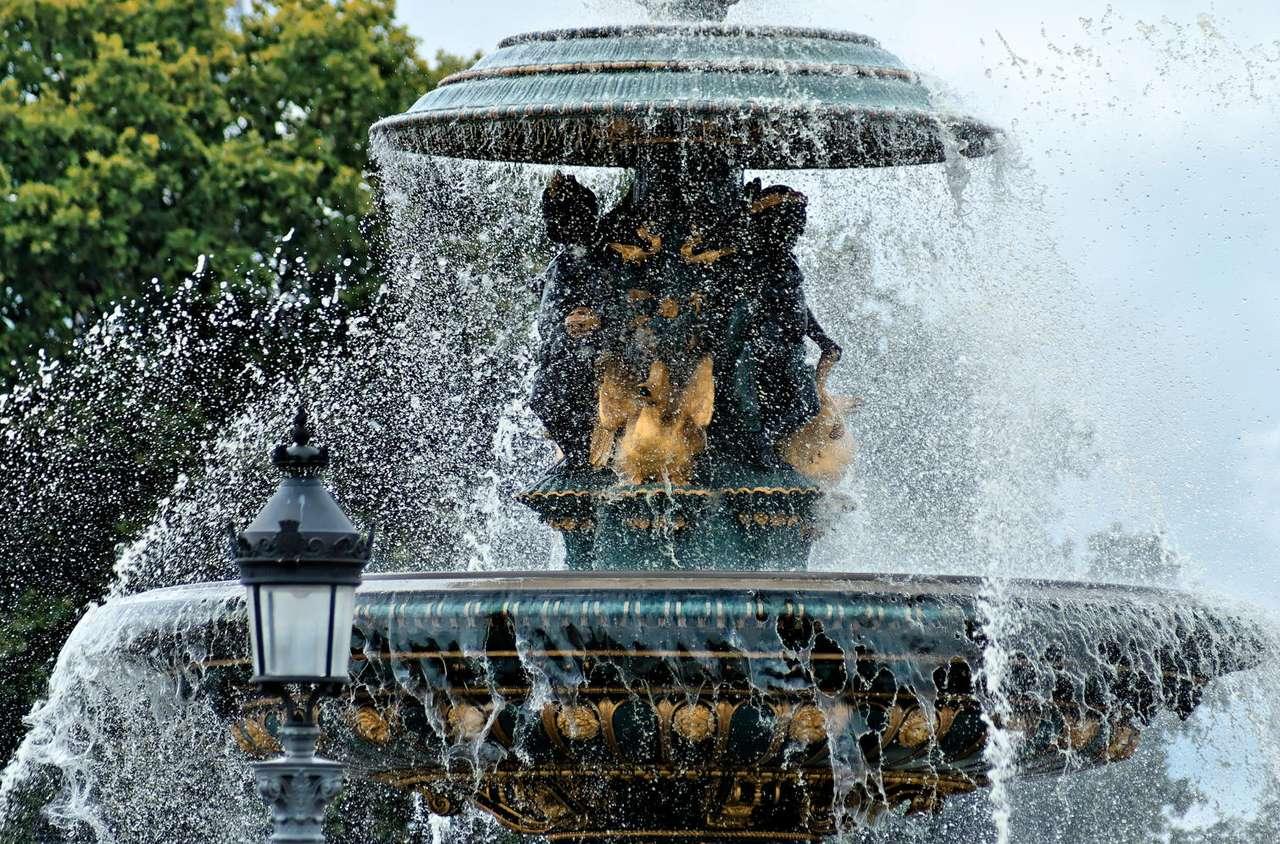 Fontanna - Plac Zgody w Paryżu (Francja)