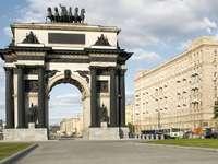 Łuk triumfalny w Moskwie (Rosja)