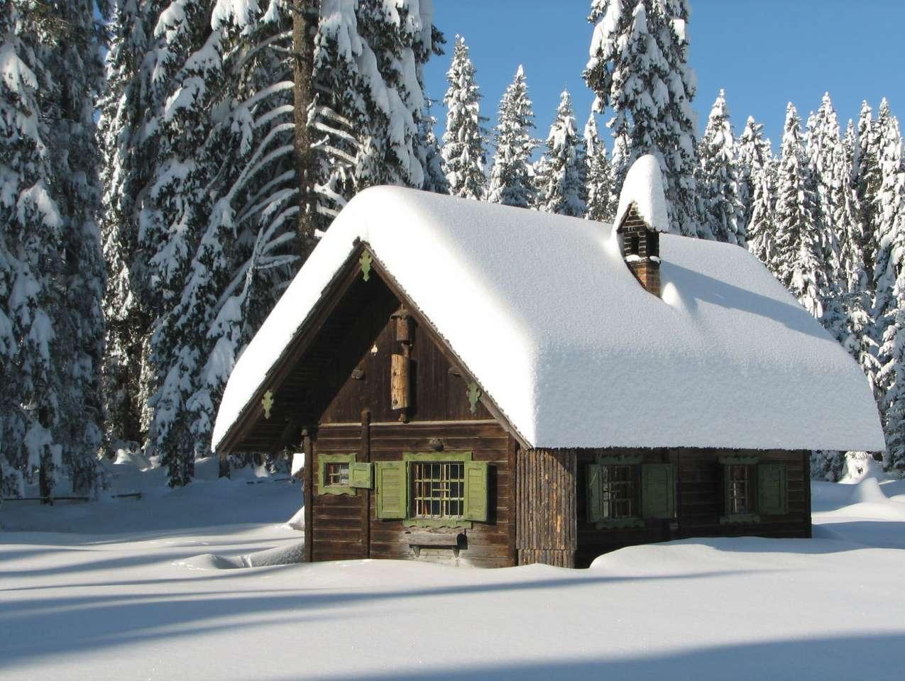 Chata w Alpach Julijskich (Słowenia) - Wymarzone miejsce do spędzenia białych świąt i Sylwestra. Chata w pobliżu miejscowości Pokljuka, leżącej w Alpach Julijskich w Słowenii, niedaleko granic z Włochami i Austrią. Otoczone lase (10×7)