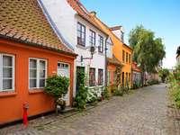 Stare domy w Aarhus (Dania)