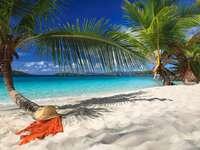 Spokojna karaibska plaża