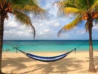 Plaża na wyspie Roatan (Honduras)