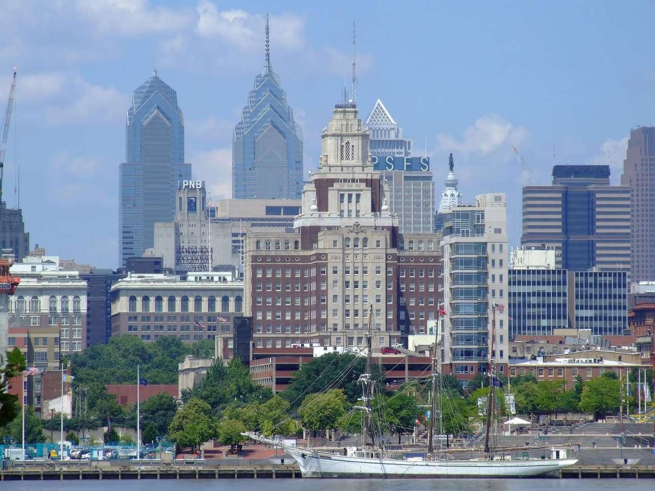 Filadelfia (USA) - Filadelfia to największe, pod względem liczby ludności, miasto amerykańskiego stanu Pensylwania. Położona jest w północno-wschodniej części USA, u ujścia rzeki Delaware do Atlantyku. Filade (12×4)
