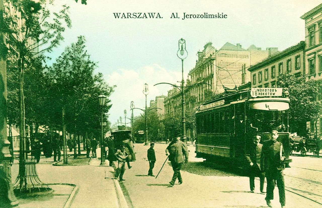 Aleje Jerozolimskie przed 1915 r - Widokówka ze zbiorów Archiwum Państwowego miasta stołecznego Warszawy (12×8)