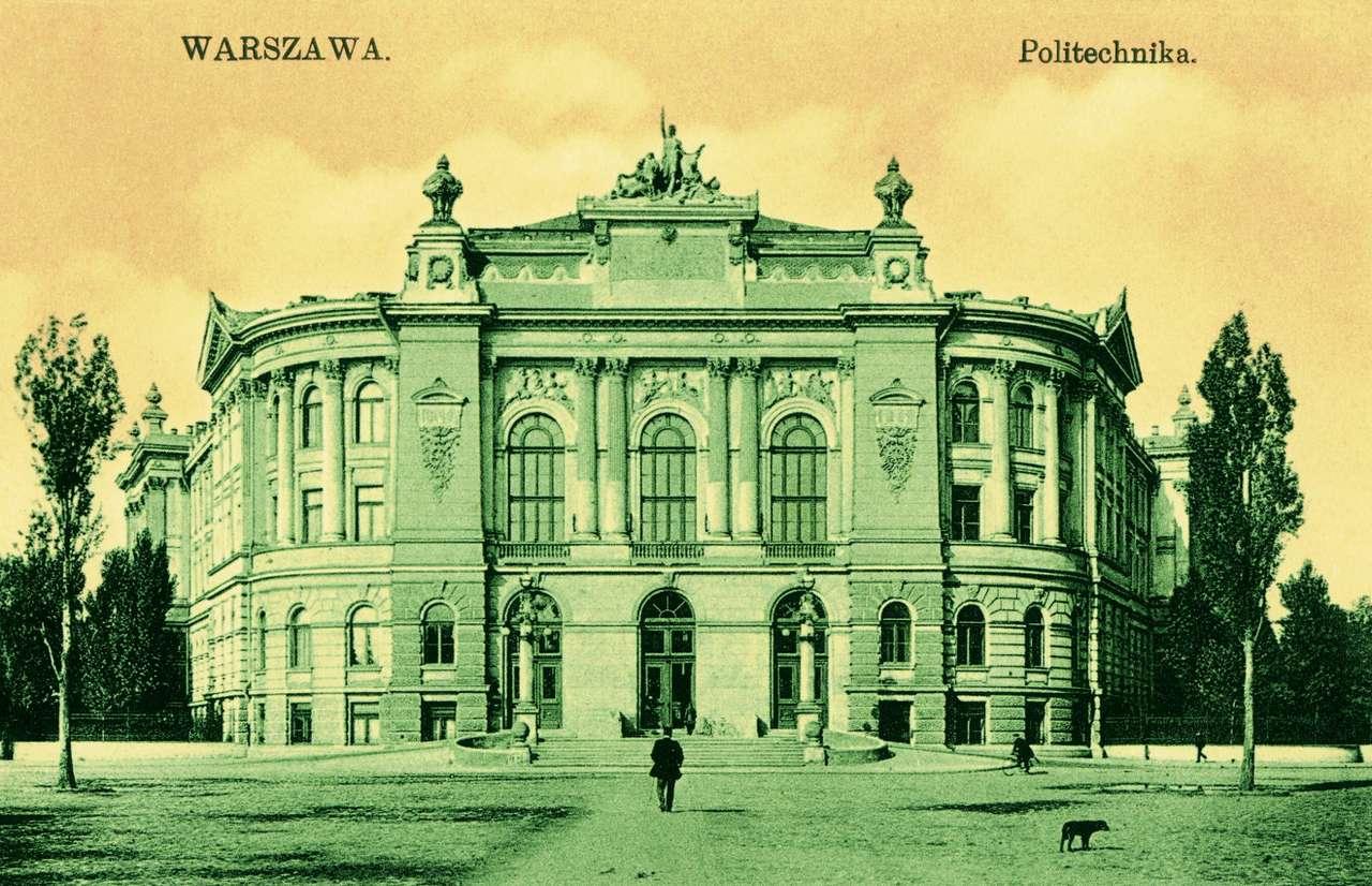 Gmach Politechniki przed 1908 r - Widokówka ze zbiorów Archiwum Państwowego m.st. Warszawy (10×5)