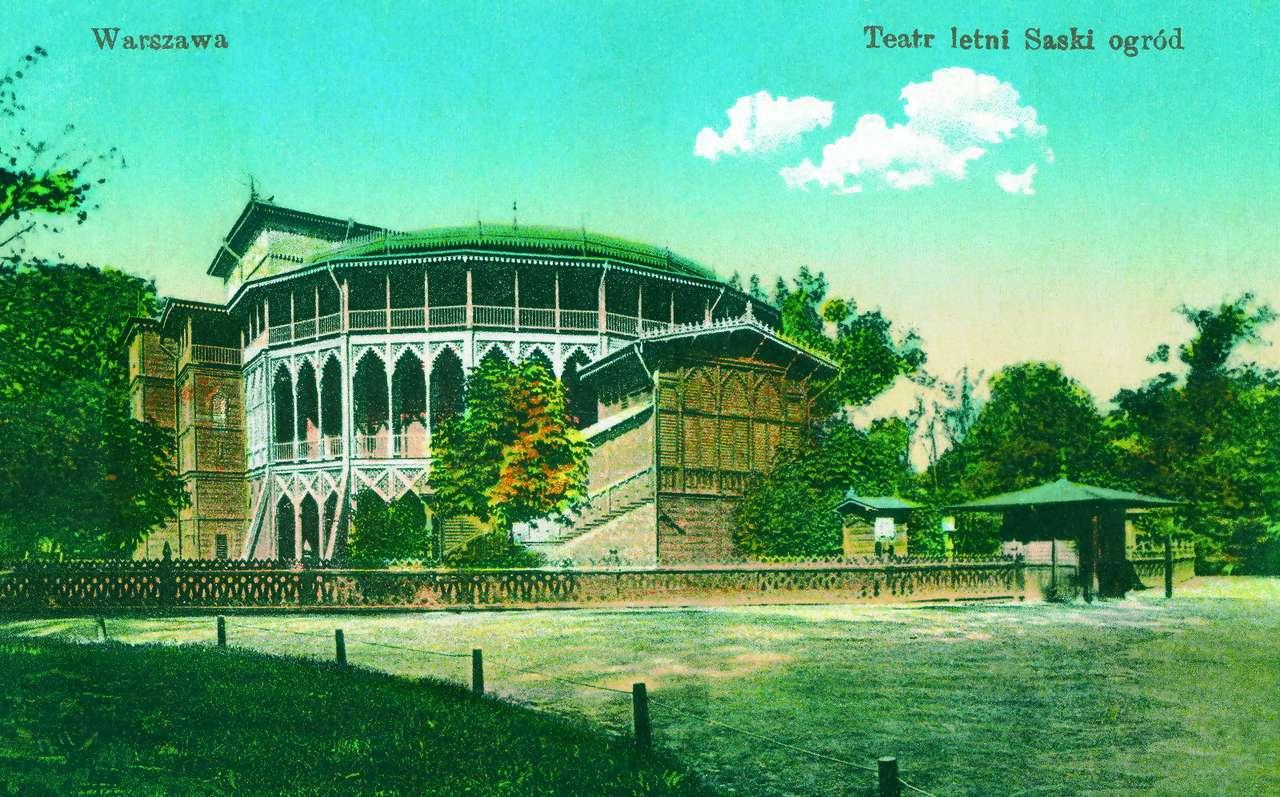 Teatr letni w Ogrodzie Saskim, przed 1915 r.
