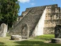 Piramida w Tikal (Gwatemala)
