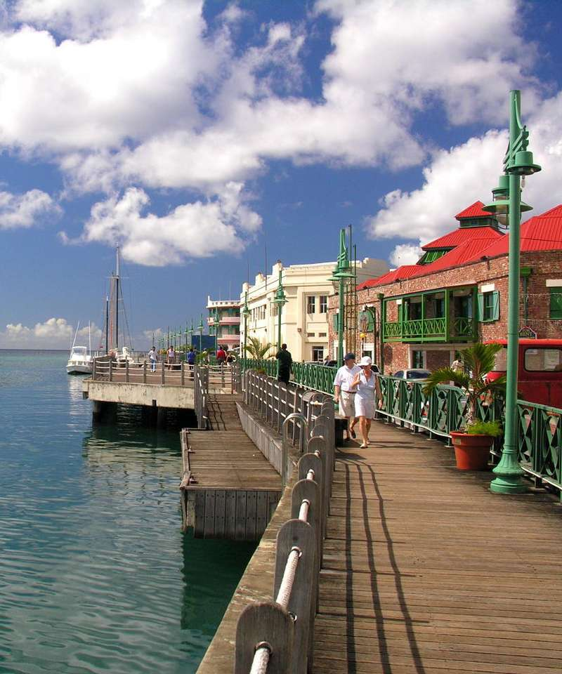 Promenada w Bridgetown (Barbados) -  (8×9)