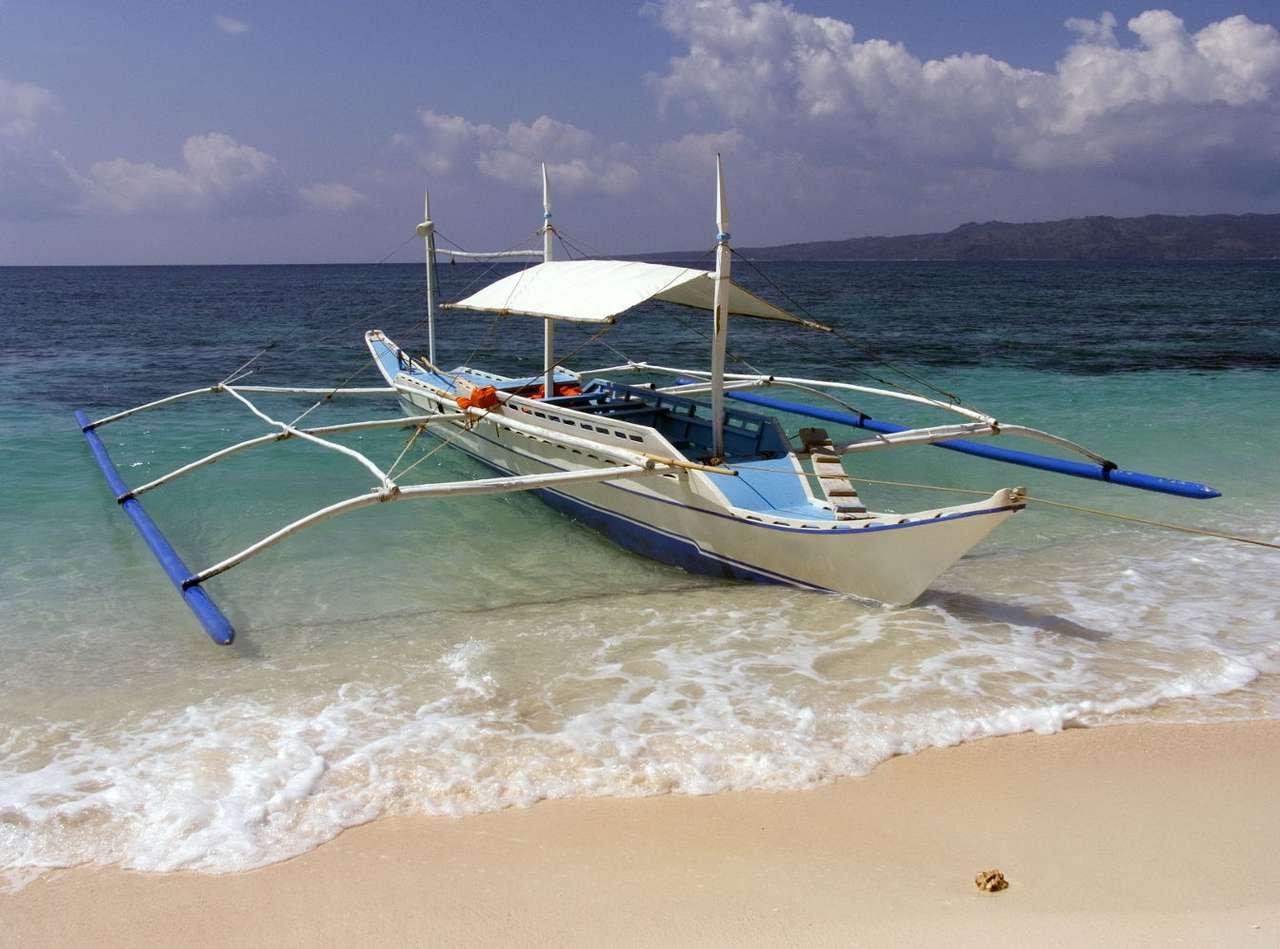 Łódź rybacka (Filipiny) - Leżące w południowo-wschodniej części Azji Filipiny, są w całości usytuowane na archipelagu. Nic zatem dziwnego, że duża część ludności tego państwa utrzymuje się z rybołówstwa. Spec (8×6)