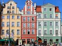 Wrocławskie kamienice puzzle ze zdjęcia
