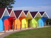 Domki plażowe w Scarborough (Wielka Brytania)