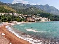 Plaża nad Morzem Adriatyckim (Czarnogóra)