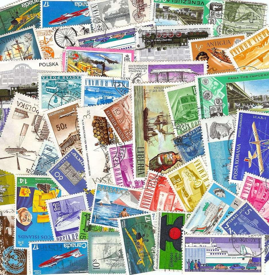 Historia transportu na znaczkach - Transport - lądowy, morski, a potem powietrzny - jest tematem znaczków pocztowych niemal od początku ich istnienia, tj. od XIX wieku. Na znaczkach bardzo często umieszcza się motywy związane z t (23×23)