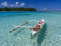 Polinezyjska łódź rybacka