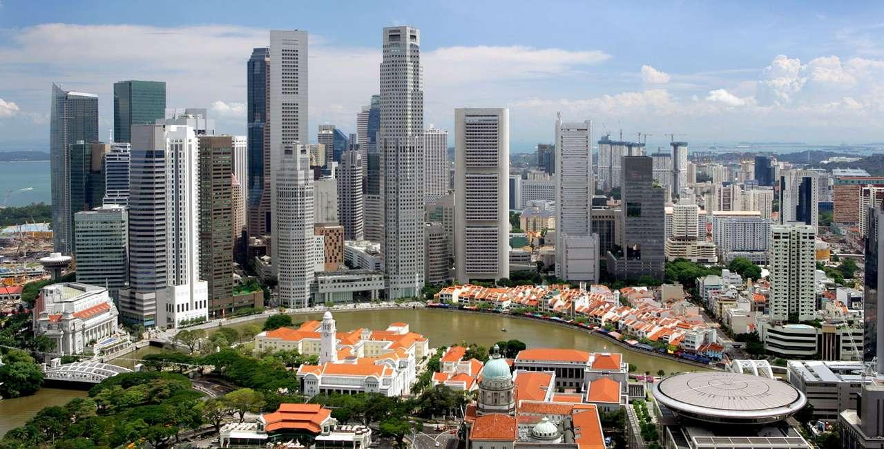 Dzielnica finansowa (Singapur) - Singapur to miasto-państwo, leżące na południu Półwyspu Malajskiego. Jego nazwa pochodzi z sanskrytu (singa - lew, pura - miasto), stąd czasem określa się je mianem Miasta Lwa. Jako w pełni (14×7)