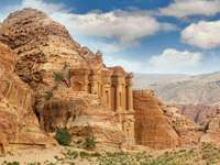 Klasztor w ruinach Petry (Jordania)