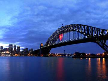 Widok na centrum Sydney (Australia)