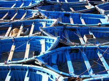 Marokańskie łodzie rybackie