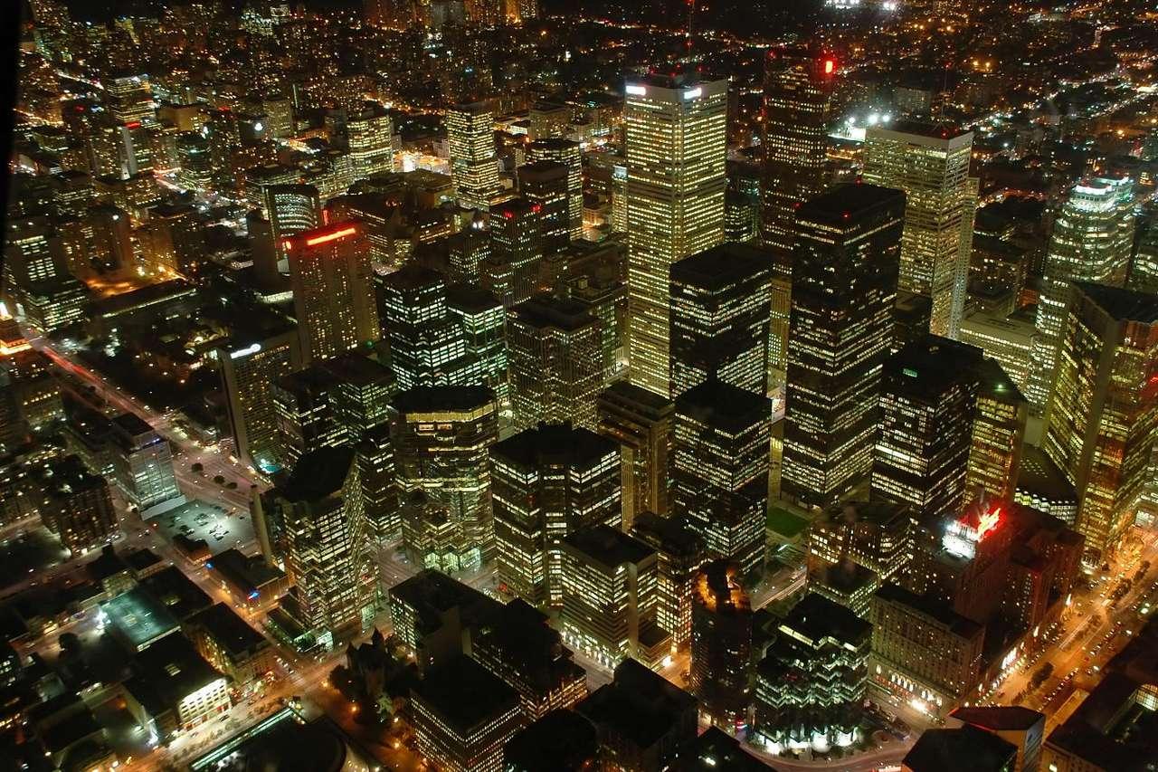 Centrum Toronto nocą (Kanada)