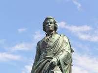 Pomnik Mozarta w Salzburgu (Austria)