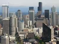 Panorama centrum Seattle (USA)