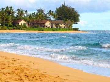 Plaża na wybrzeżu Kauai (USA)