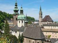 Panorama centrum Salzburga (Austria)