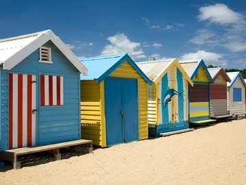 Brighton Beach w Melbourne (Australia)
