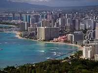 Plaża Waikiki w Honolulu (USA)