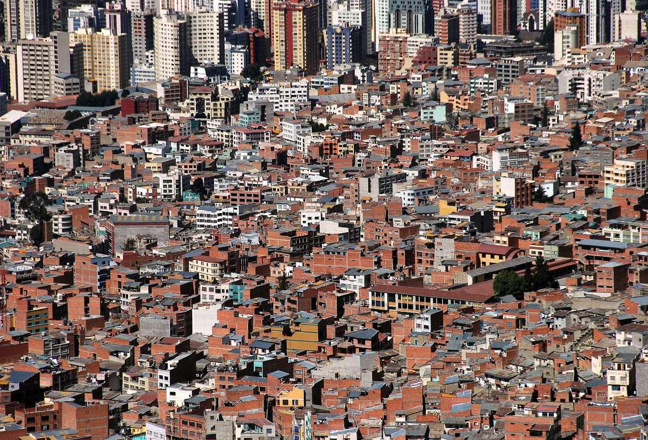 Widok na La Paz (Boliwia) puzzle ze zdjęcia
