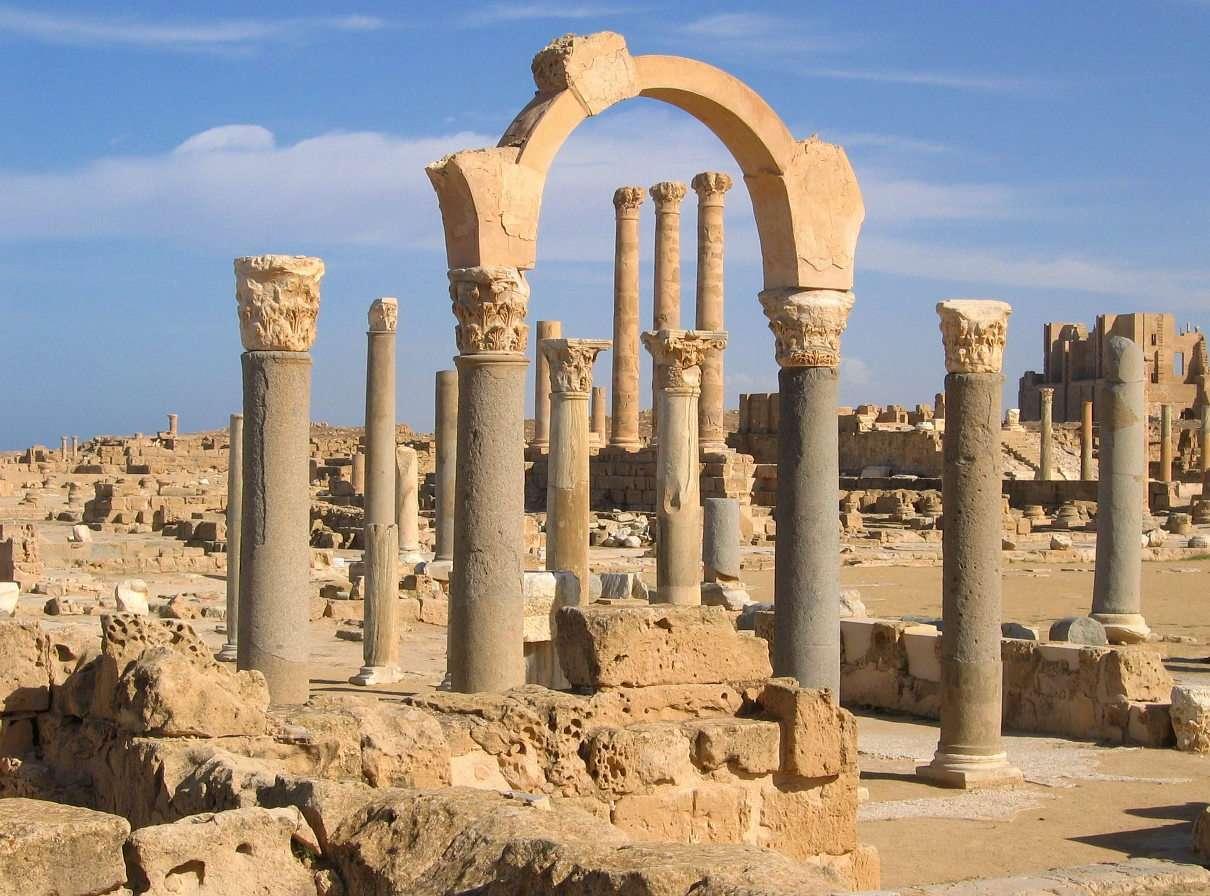 Ruiny starożytnego miasta w Sabracie (Libia)