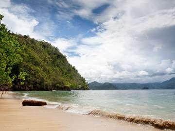 Prywatna plaża w Indonezji