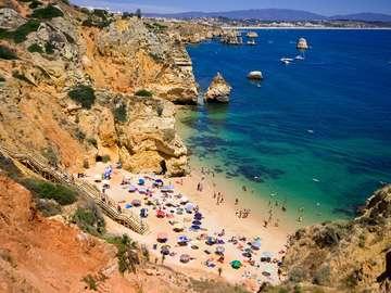 Wybrzeże Rock Algarve (Portugalia)