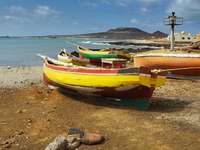 Łódź rybacka u wybrzeży Republiki Zielonego Przylądka
