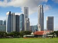 Widok na dzielnicę finansową Singapuru