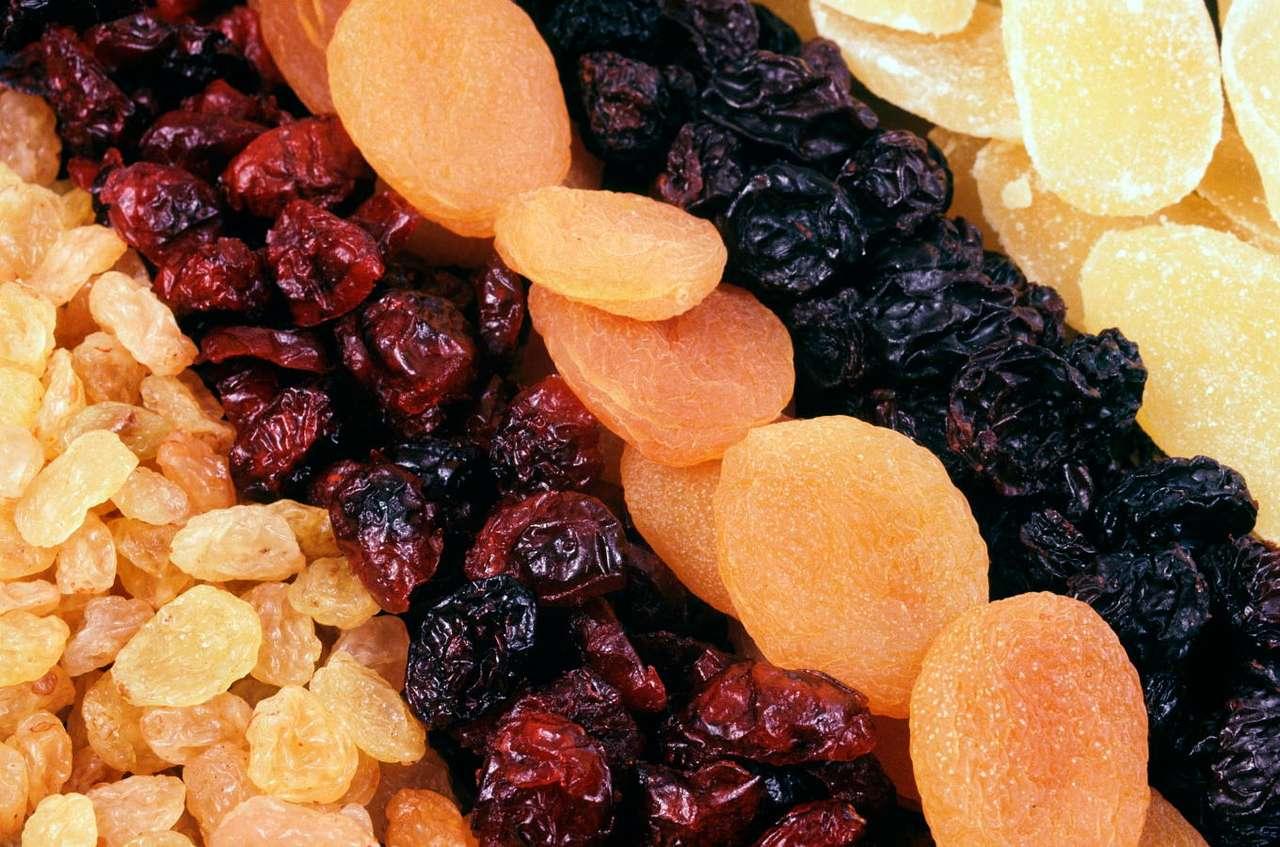 Suszone owoce