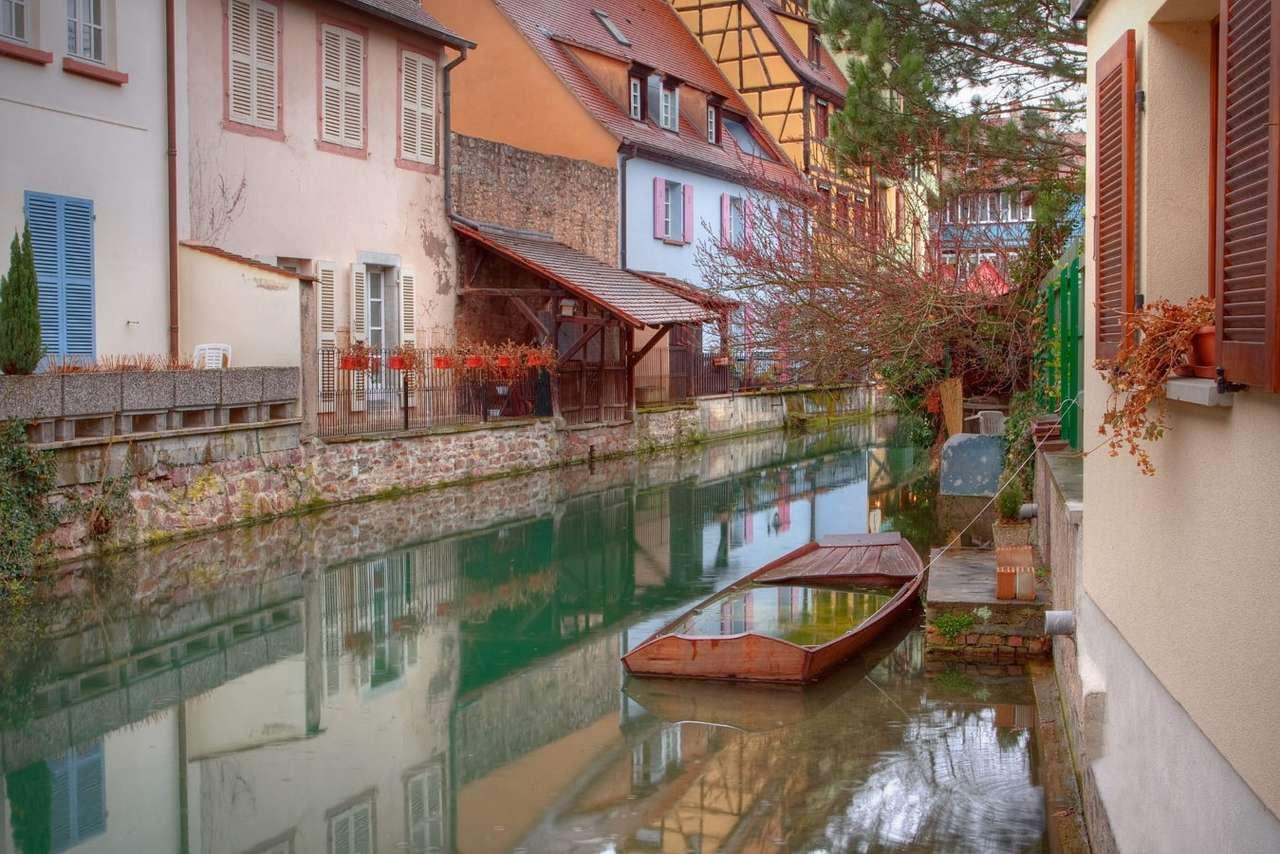 Colmar w strugach deszczu (Francja)
