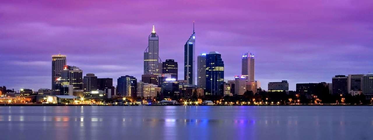 Panorama Perth o zmierzchu (Australia)