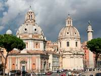 Centrum Rzymu przy Forum Trajana (Włochy)