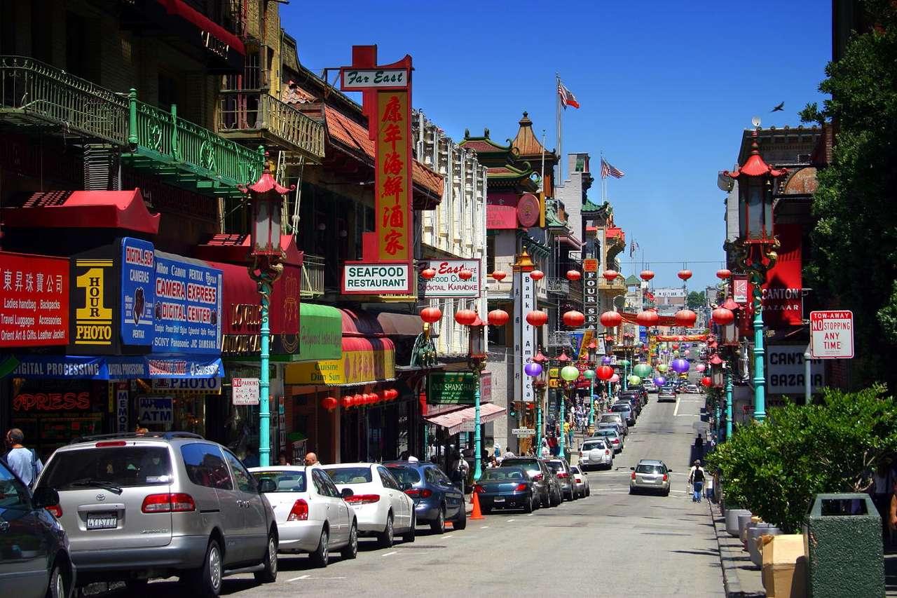 Dzielnica Chinatown w San Francisco (USA) puzzle ze zdjęcia
