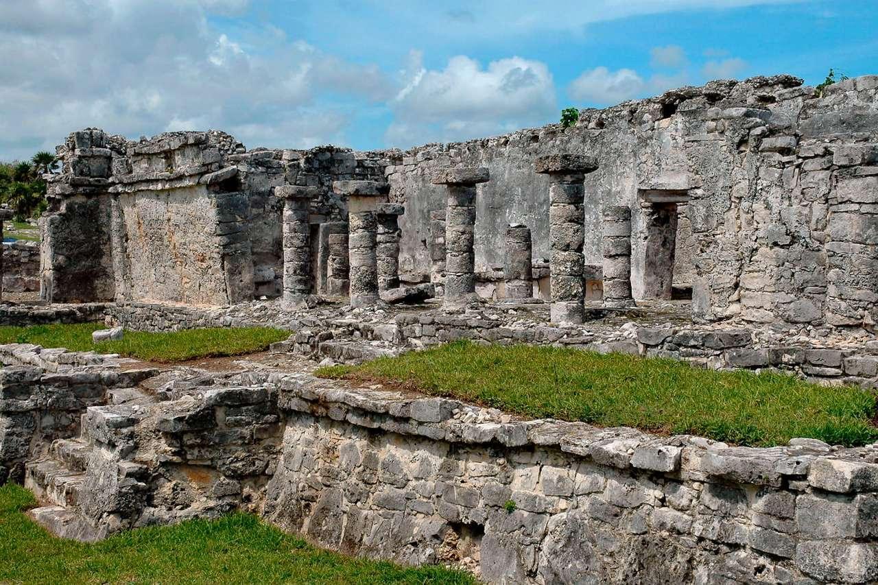 Ruiny miasta Majów w Tulum (Meksyk)
