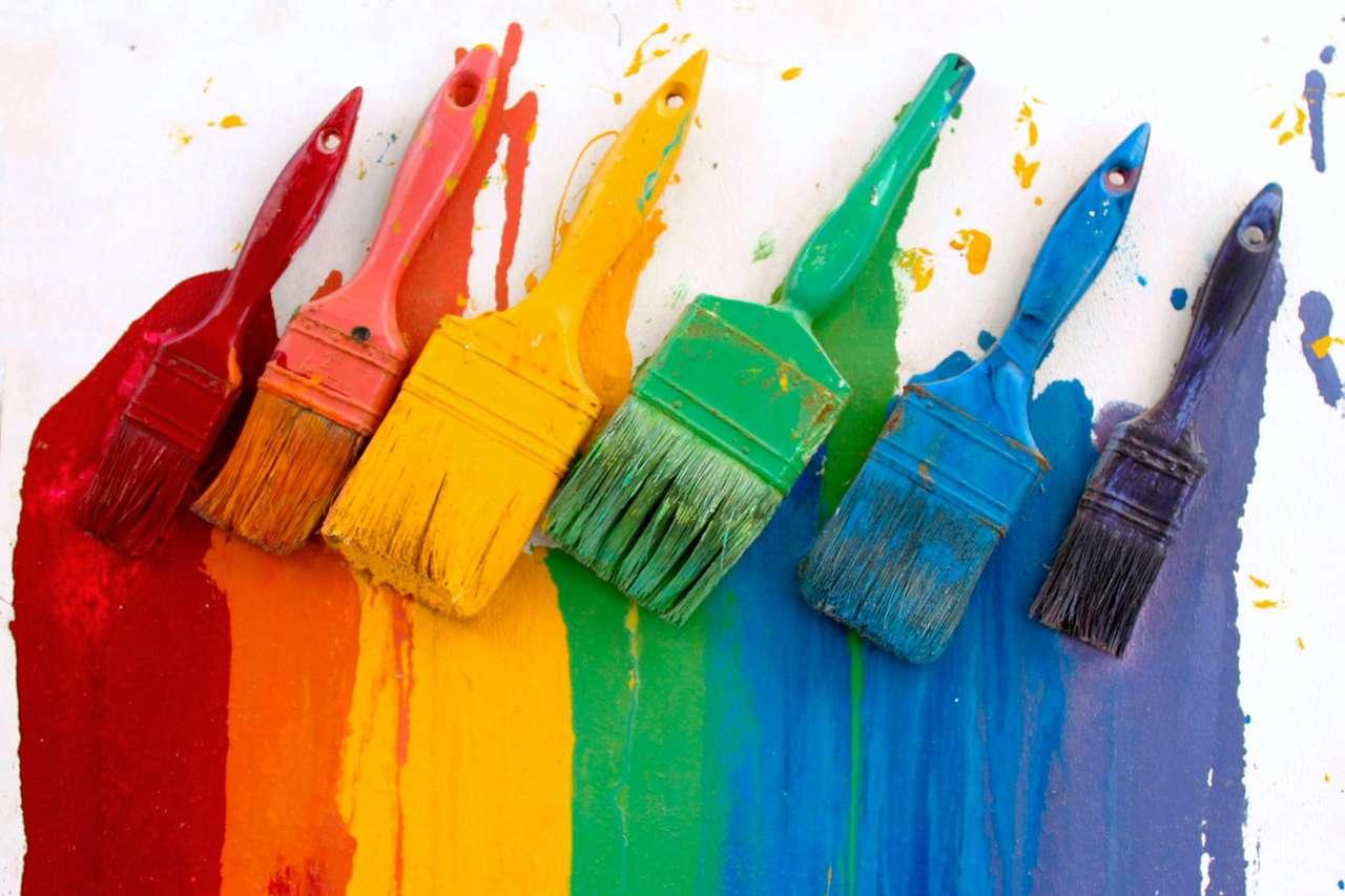 Kolory tęczy - Choć w rzeczywistości tęczę tworzy ogromna liczba barw (widmo powstałe z rozszczepienia białego światła w kropli wody jest ciągłe), to w uproszczeniu uznaje się, że składa się ona z nast (9×6)