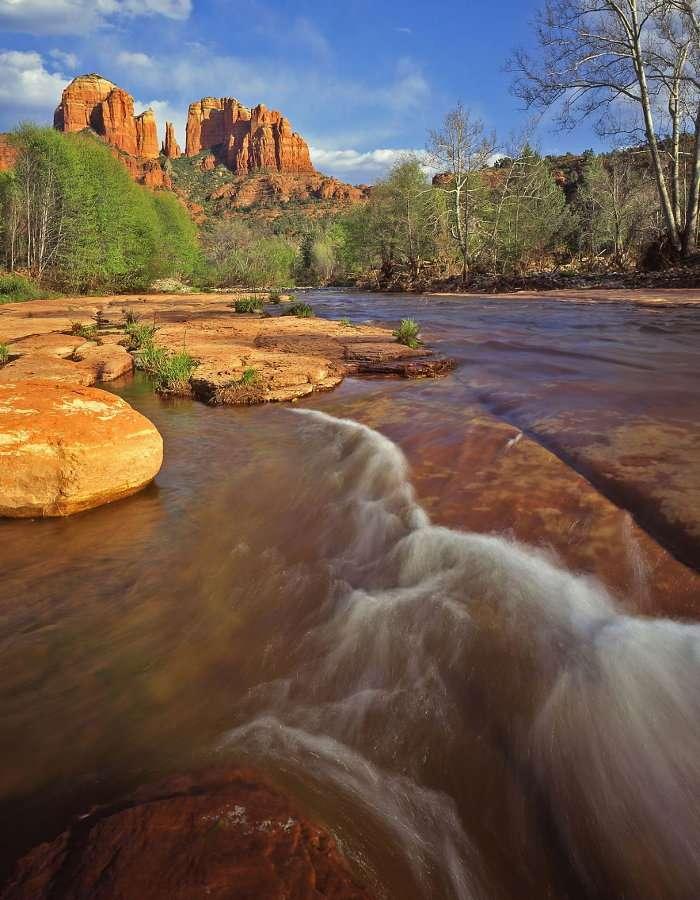 Kanion Oak Creek z Cathedral Rock w tle (USA)