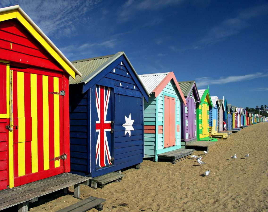 Domki plażowe na plaży Brighton w Melbourne (Australia)