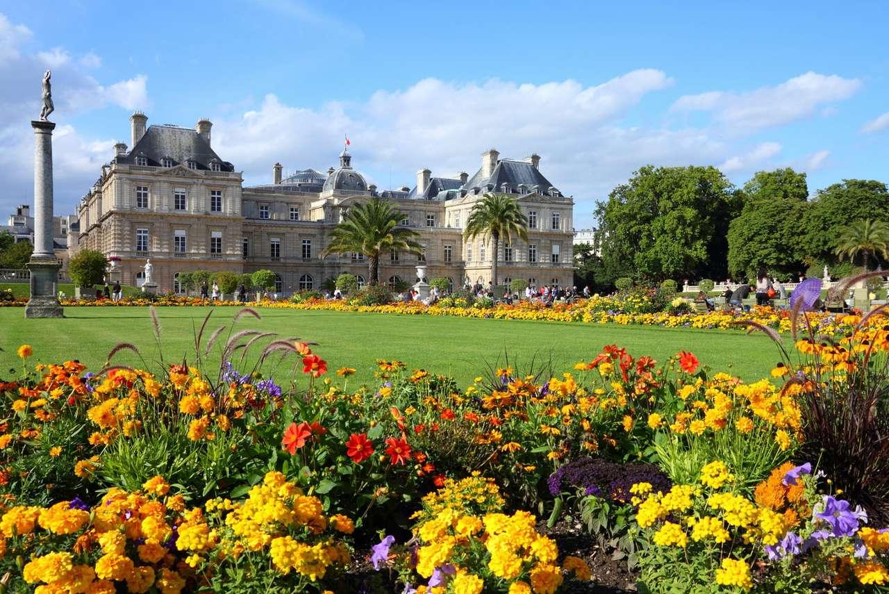 Pałac Luksemburski w Paryżu (Francja) - Pałac Luksemburski w Paryżu został wybudowany na początku XVII wieku. Jest położony niemal w samym centrum stolicy Francji, na południe od tzw. dzielnicy łacińskiej. Od roku 1799 jest siedzib (11×7)